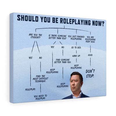 """Should You Be Roleplaying Now?"" Canvas Wall Art"