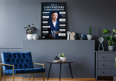 The 10 Copywriter's Commandments Framed Poster