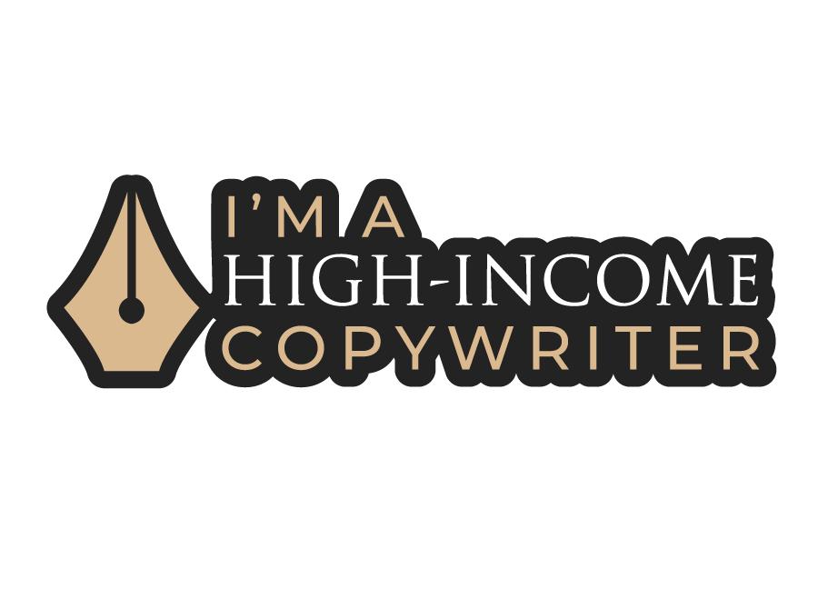 High Income Copywriter Sticker - Style 1