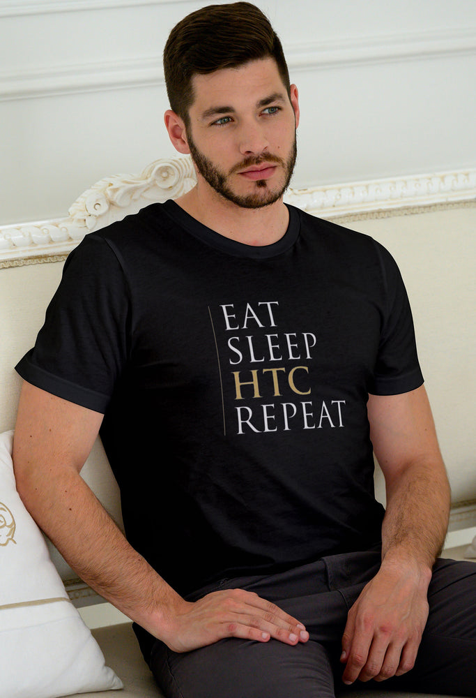 Eat Sleep HTC Repeat Unisex T-Shirt