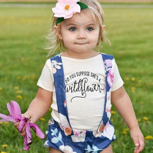 Do You Suppose She's A Wildflower | Bodysuit | Toddler Tee