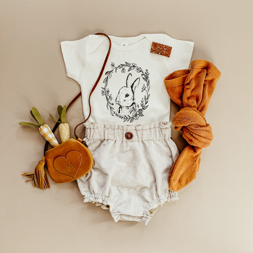 Heirloom Bunny | Bodysuit | Toddler Tee