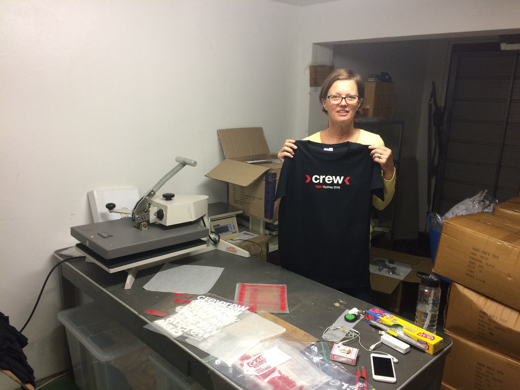 Cooking the T Shirts for TEDxSydney