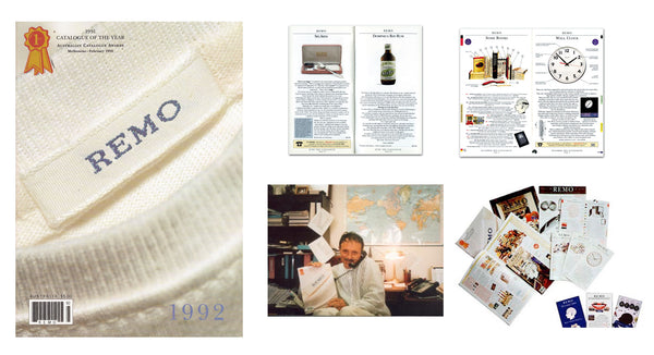 REMO Catalogues Selection. J Peterman with the Award Winning 1991 Catalogue.