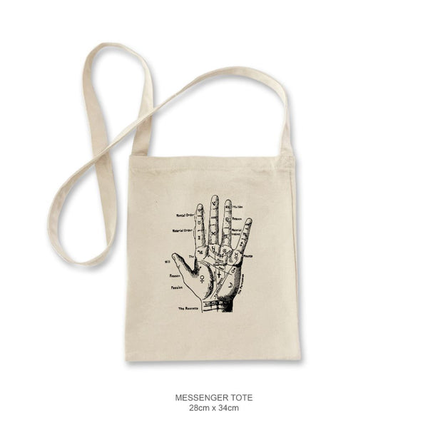 Palmistry Hand Messenger Tote
