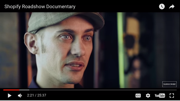 Shopify Roadshow Documentary