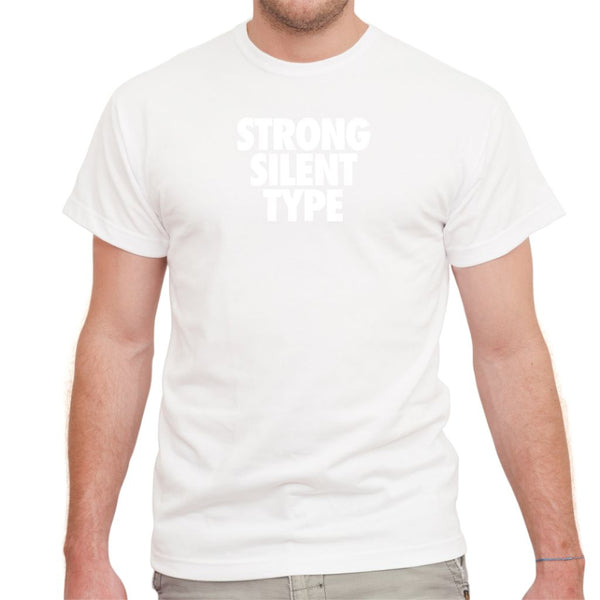Strong Silent Type on White