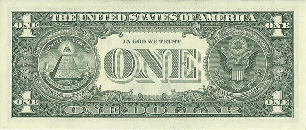 US One Dollar Bill