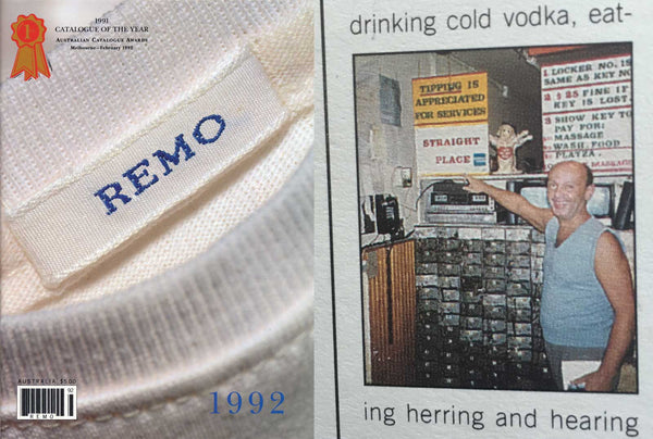 Boris Featured in the 1991 REMO Catalogue