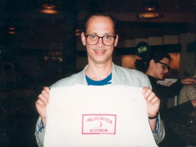 John Waters with Miracle Fish T Shirt