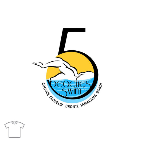 Five Beaches Swim T Shirt for Men