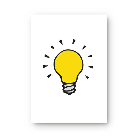 Light Bulb Sticky Note Pad