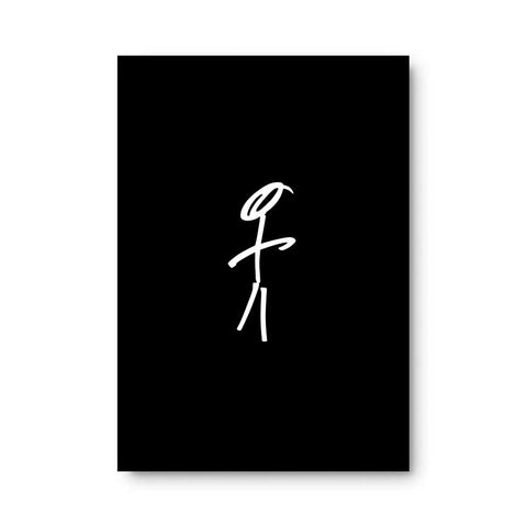 Stick Man Sticky Note Pad