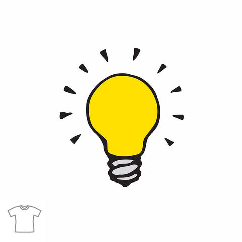 Light Bulb T Shirt for Women
