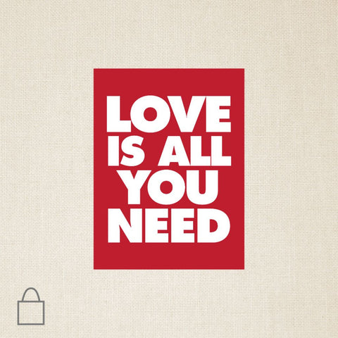 Love is All You Need Tote Bags