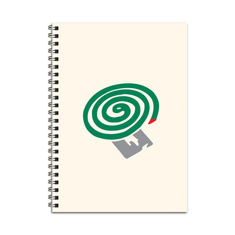Mosquito Coil Notebook