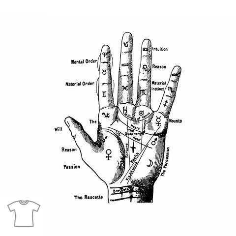 Palmistry Hand T Shirt for Women