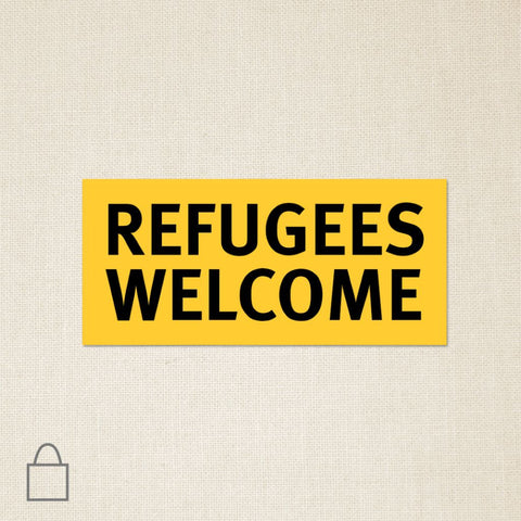 Refugees Welcome Tote Bags