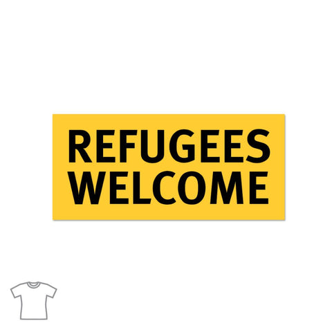 Refugees Welcome T Shirt for Women