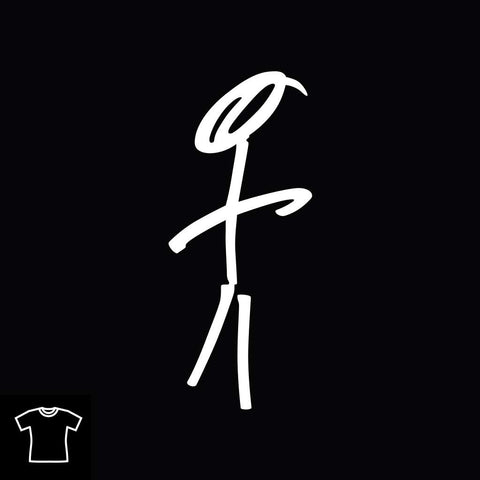 Stick Man T Shirt for Women