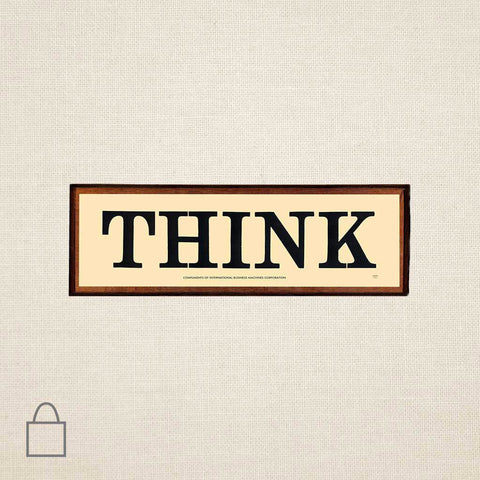 THINK Sign Tote Bags