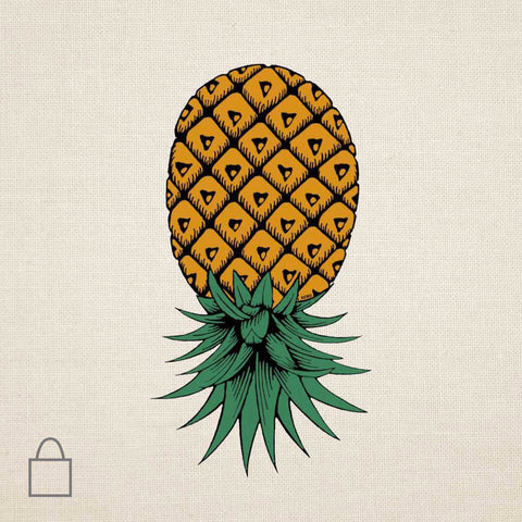 Upside Down Pineapple Tote Bags