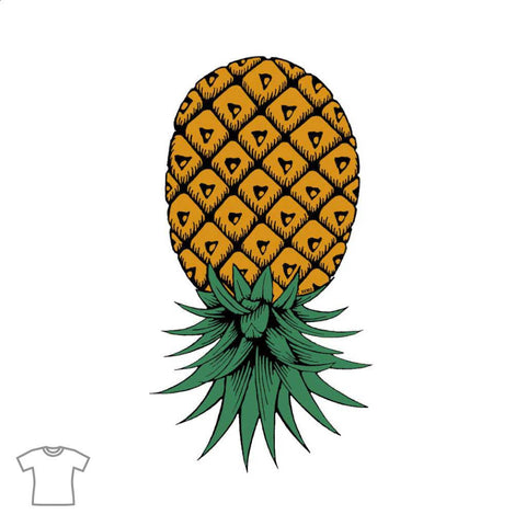 Upside Down Pineapple T Shirt for Women