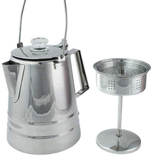 Load image into Gallery viewer, Coletti Butte Campfire Percolator – 14 Cup Stainless Steel