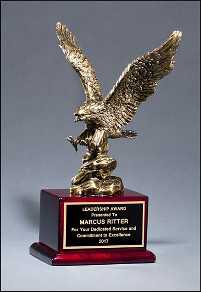 Antique Bronze Resin Eagle