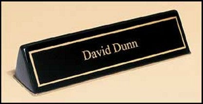 Gloss Black Nameplate