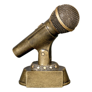 Microphone Gold Resin