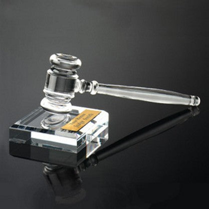 Clear Acrylic Gavel Set