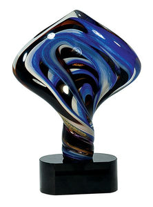 Diamond Twist Art Glass