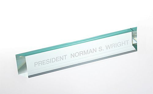 Jade Glass Nameplate