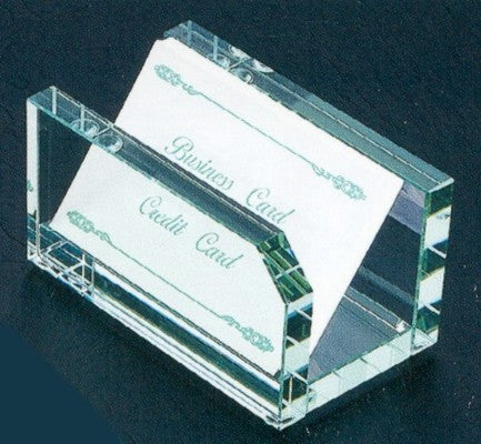Glass Business Card Holder