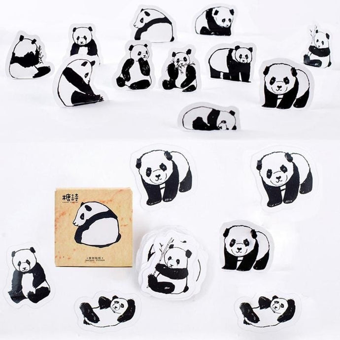 Cute Panda Stickers - socialbear