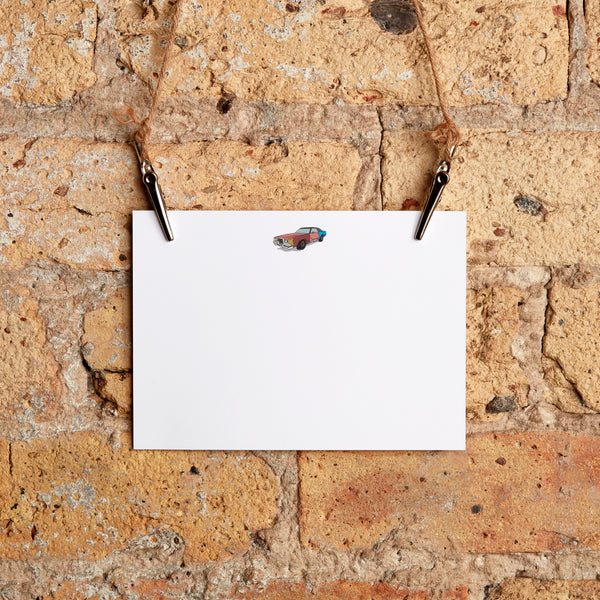 classic car beater stationery