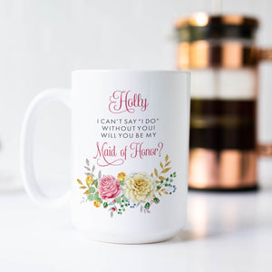 Spring Flower Maid of Honor Proposal Mug