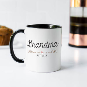 Grandma Heart 11oz Black and White Mug