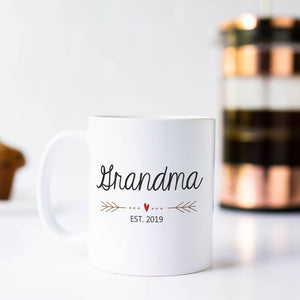 Grandma Heart 11oz White Mug