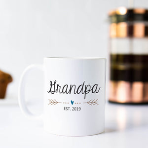 Grandpa Mug with Heart and Arrows
