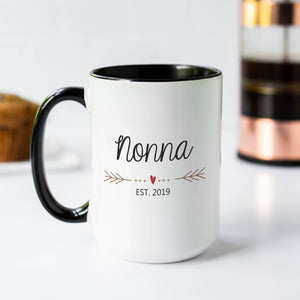 Nonna Mug with Heart and Arrows