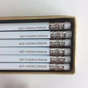 Not a People Person Engraved Pencils