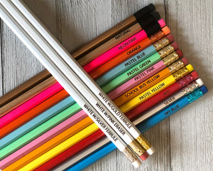 Motivational Engraved Pencil Set