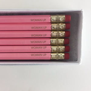 Woman Up Engraved Pencils