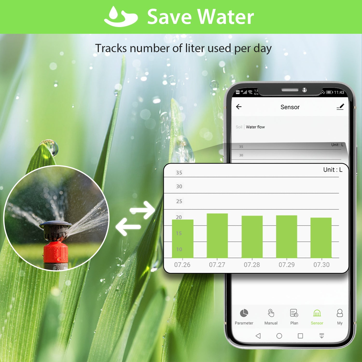 Rain Delay Digital Hose Faucet Water Timer for Drip and Mist Irrigation Systems Auto Manual Mode Know The Flow XpertMatic Bluetooth Sprinkler Timer Programmable for Garden Lawn with Filter Washer