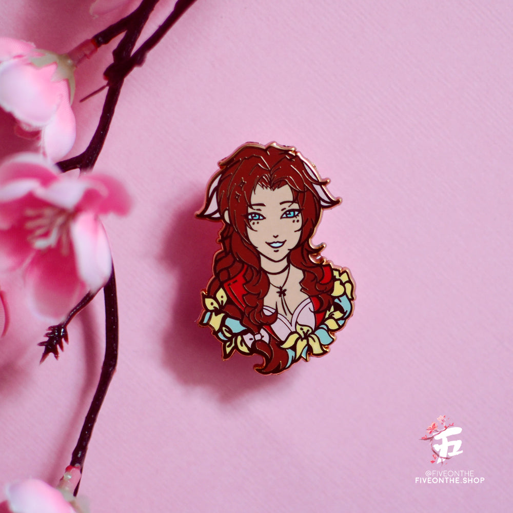 Aerith Gainsborough ✦ FFVII Enamel Pins