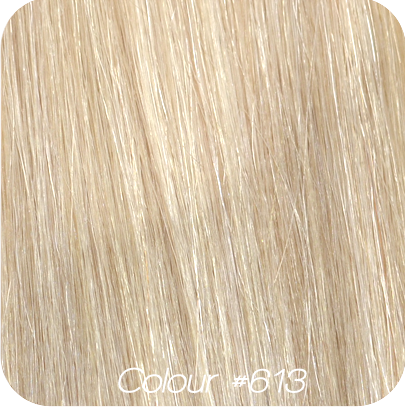 "Luxe European 7 Piece Clip In Hair Extensions - #10 - Biscuit Blond - 20"" - 190g -  Extra Thick Set"