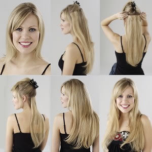 Instructions for wearing clip in hair extensions