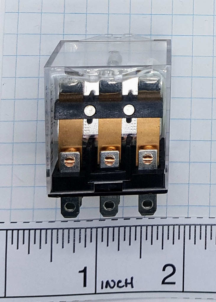 Carlo Relay, 3 Pole, 11 Pin, 24v AC, 70mA, Flange Mount